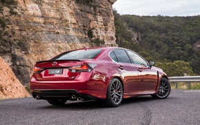Picture mountains, track, Lexus, 2016, GSF
