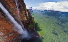 Wallpaper waterfall, Venezuela, Angel, 979 meters, The highest in the world