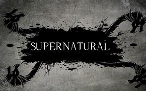 Picture the inscription, dragons, Dragon, Supernatural, supernatural, TV series