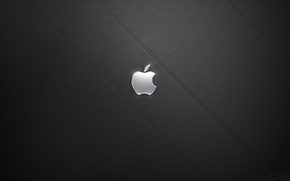 Wallpaper leather, black, Apple