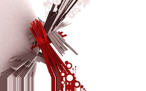 Wallpaper line, red, abstraction, stick