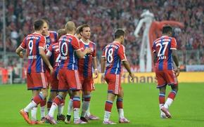 Picture Allianz Arena, Lewandowski, Robben, FC Bayern Munich, Gotze, Alaba, Lahm., Bernat