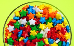Picture plate, candy, stars, diversity