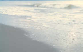 Wallpaper sand, sea, wave, beach, the sky, water, nature, shore, calm, wave