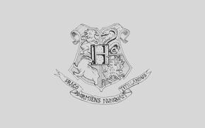 Wallpaper coat of arms, Harry Potter, Hogwards, the coat of arms of Hogwarts, Hogwarts, Gaari Potter
