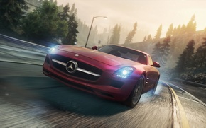 Picture Mercedes, 2012, Need for Speed, AMG, SLS, Most Wanted, NSF, NFSMW