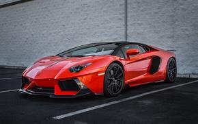 Picture Lamborghini, Orange, Vorsteiner, Aventador
