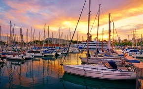 Picture photo, Pier, Yachts, Sailing