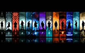 Picture art, figures, the series, silhouettes, Doctor Who, Doctor Who