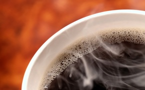 Wallpaper vigor, coffee, hot, bubbles, black