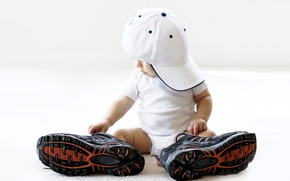 Picture child, cap, large, sneakers