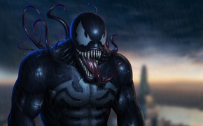 Picture language, eyes, fear, power, teeth, Marvel, Venom, Venom, Symbiote