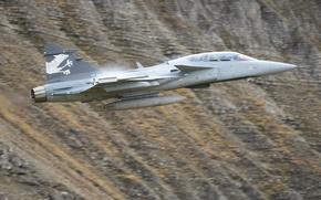 Wallpaper bomber, flight, Gripen, multipurpose, JAS 39, fighter