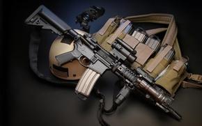 Picture machine, optics, helmet, stores, hd wallpaper, upgrade, assault rifle, kit, PNV, Larue Tactical