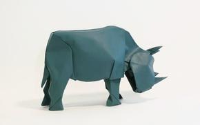 Picture paper, Rhino, origami