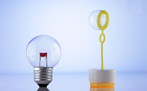 Wallpaper base, light bulb, bubble
