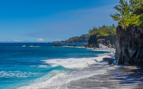 Picture sea, nature, rocks, The Indian ocean, reunion island