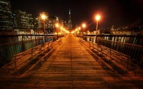 Picture night, lights, CA, San Francisco, california, night, san francisco, usa