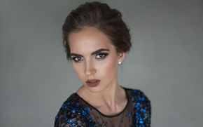 Picture look, face, background, model, Viktoria