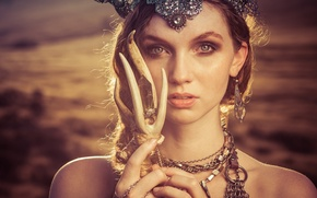 Picture look, girl, decoration, face, style, Alexandria Basso