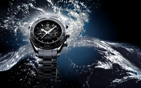 Picture water, watch, Omega