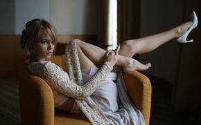 Picture girl, model, chair, legs, beautiful, cute, Nastya, Nastya, Anastasia Shcheglova