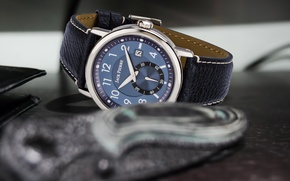 Picture blue, leather, watch, Jack pierre