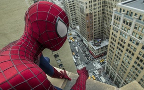 Picture roof, the city, fiction, street, comic, The Amazing Spider-Man, Andrew Garfield, New spider-Man, Andrew Garfield