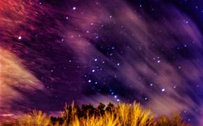 Picture sunset, night, The sky, stars, space, sky, night, stars