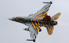 Wallpaper fighter, turn, Fighting Falcon, F-16AM