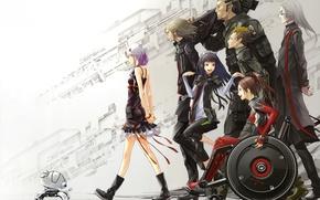 Picture anime, GUILTY CROWN, Crown, Yuzuriha Inori, Shinomiya Ayase, guilt, Tsutsugami Gai, Ouma Shu