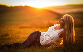 Picture Girl, Model, Sunset, Blonde, View, Maria, Fashion, Hair, Lies