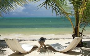 Wallpaper sea, Palma, stay, table, sunbeds