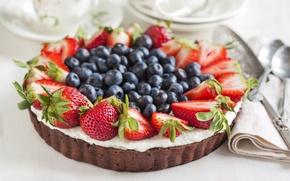Picture berries, food, cake, dessert, dish