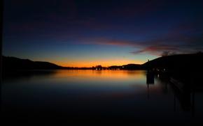 Picture sea, Sunset, calm