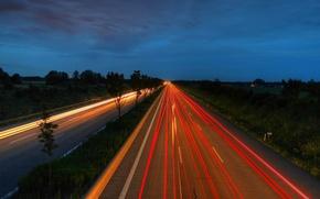 Wallpaper Road, Lights, Night