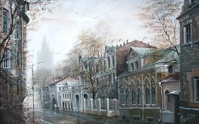 Wallpaper autumn, street, building, Moscow, Alexander Starodubov, Cook in October