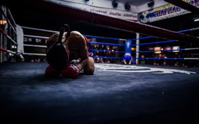 Picture thailand, before fighting, boxing ring