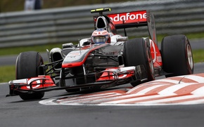 Picture McLaren, turn, 2011, Jenson Button, Grand Prix of Hungary