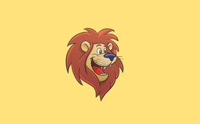Picture Leo, light background, lion, happy face