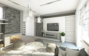 Picture design, style, photo, table, lamp, interior, living room, hi-tech, 3D graphics
