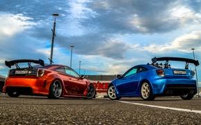 Picture Toyota, blue, orange, Celica, sharky, 2widebody