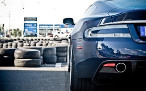 Picture blue, Aston Martin, Aston Martin, blue, dbs, back, DBS