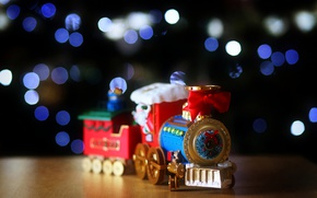 Picture lights, Christmas, train