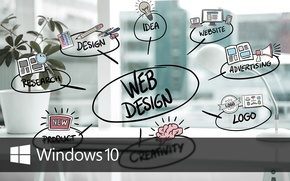 Picture windows, logo, web, idea, windows 10, windows10