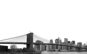Picture bridge, America, architecture, New York, Wallpaper city, NEW YORK