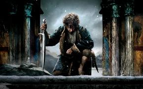 Picture sword, fantasy, the hobbit, Martin Freeman, Martin Freeman, Bilbo Baggins, The Hobbit: The Battle of ...