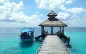 Picture sea, the sky, the ocean, stay, island, vacation, the Maldives