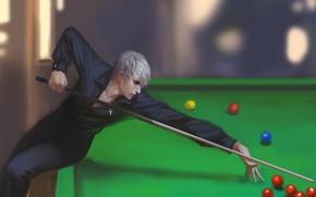 Picture balls, the game, Billiards, guy, cue, cross, mitsunari ishida, sengoku basara