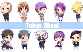 Picture art, Chibi, art, Tokyo Ghoul, Ken Kanek, Tokyo Ghoul, Kirishima Bring, Kamishiro Rize, Uta, Fueguchi …